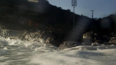 Wave perspective shot - Rio de Janeiro, Brazil Footage