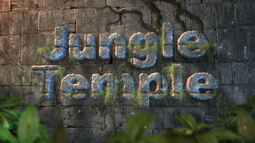 Jungle Temple - Overgrown Temple Logo Stinger After Effectsテンプレート