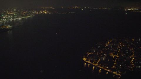 Aerial shot of Maracanã Stadium and the surrounding area Footage