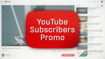 YouTube Subscribers Promo Plantilla de After Effects