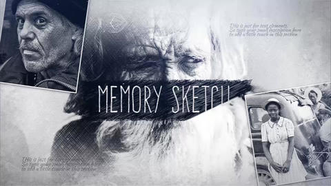 Memory Sketch After Effects Template