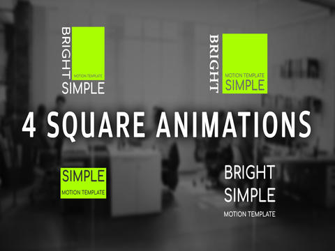 4 Square Animations Motion Graphics Template