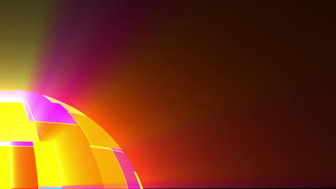 Big Psychedelic Fractal Disco Sphere Surface Rays Motion Background Loop Fast Animation