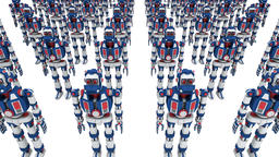 Army of clone robots Animation