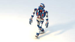 Cute robot toy is a funny gait Animation