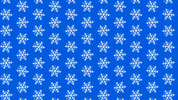 Video looped geometric snowflakes pattern Animation