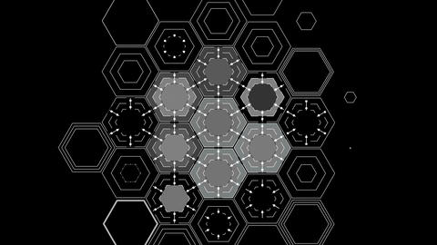Drawing Abstract Hexagons Animation