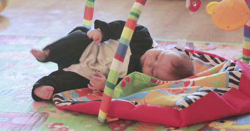 On the play mat baby Footage