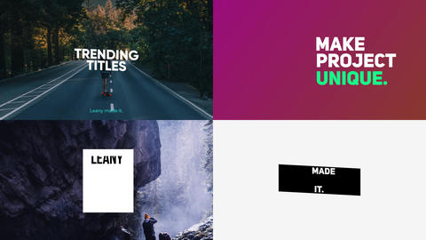 Typography After Effects Template