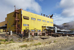 Separator and pumping station of Geothermal Power Station Fotografía