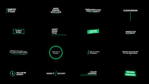 Kinetic Titles Motion Graphics Template