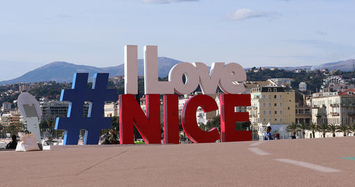 Hashtag I LOVE NICE In Nice France Live Action