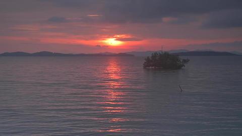 Sunrise time after rainny 3 Footage