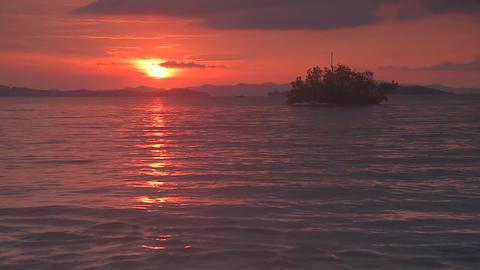 Sunrise time after rainny Footage