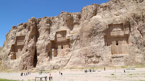 in iran near persepolis the old ruins historical destination monuments and ruin Footage