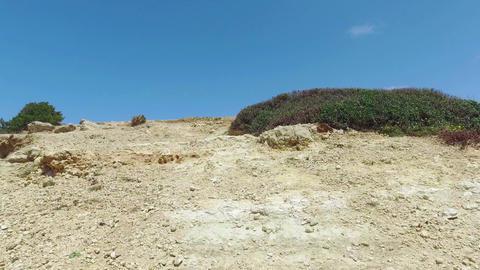 Walk Through a Limestone Hill Footage