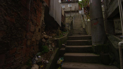 RIO DE JANEIRO, BRAZIL - JUNE 23: Slow tracking shot going upstairs on Jun 23, 2 Footage
