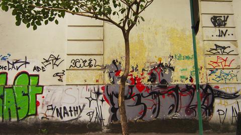 RIO DE JANEIRO, BRAZIL - JUNE 23: Slow tracking down a street of Rio de Janeiro  Live Action
