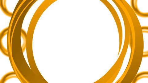 Rotating Circles Loop - Orange Animation