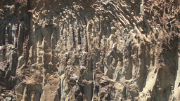 Rocky formation of a gorge in rifting system Footage