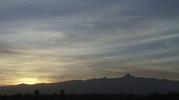 Sunrise with mount kenya in the background Footage