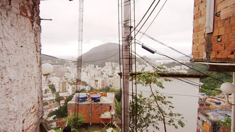 RIO DE JANEIRO, BRAZIL - JUNE 23: Slow dolly shot going downstairs on June 23, 2 Footage