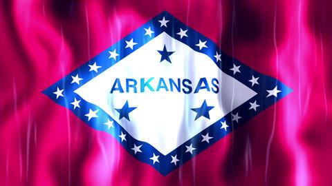 Arkansas State Flag Animation Animation