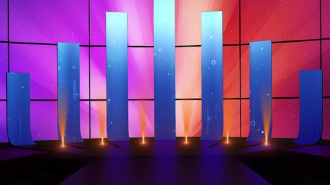 Entertainment TV Studio Set 43-Virtual Background Loop Footage