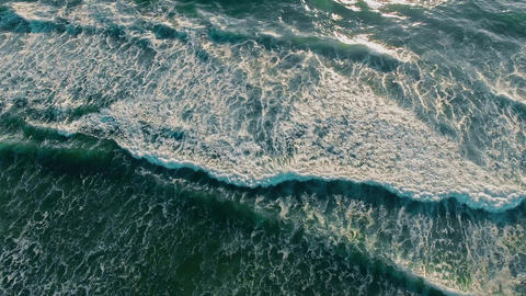 Ocean Beach From The Top Aerial stock footage
