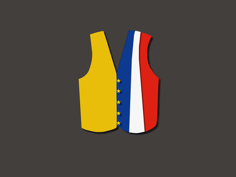 French yellow vest Animation