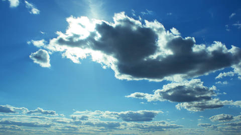 Sky with clouds and sun timelapse Footage