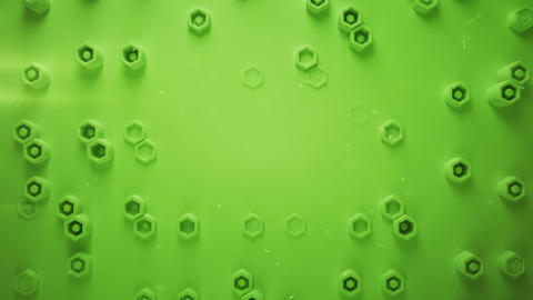 Green honeycomb pattern with hexagons seamless loop 3D render Animation