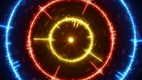 Digital audio wave concentric circles seamless loop animation Animation