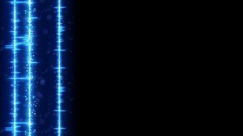 Vertical digital audio wave on edge seamless loop animation Animation