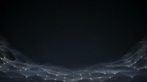Glowing futuristic network abstract background seamless loop animation Animation
