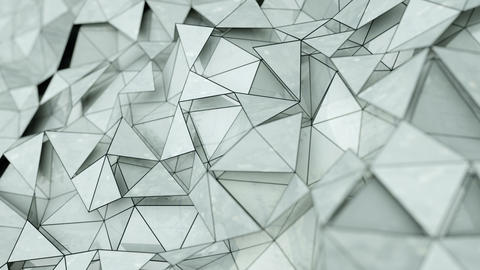 Abstract 3d rendering of chaotic structure loopable animation Animation