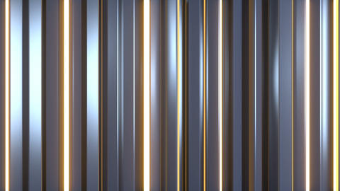 Glossy and shiny vertical bars seamless loop 3D render animation Animation