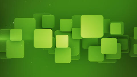 Geometric green mosaic with squares 3D loopable animation Animation
