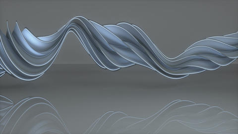 Futuristic twisted spiral shape spinning seamless loop 3D render animation Animation