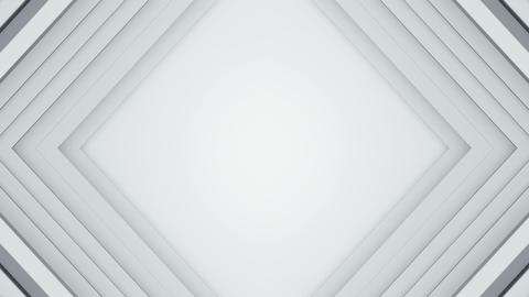 Frame of white lines 3D render seamless loop background Animation