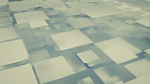 Flying squares seamless loop 3D render animation Animation