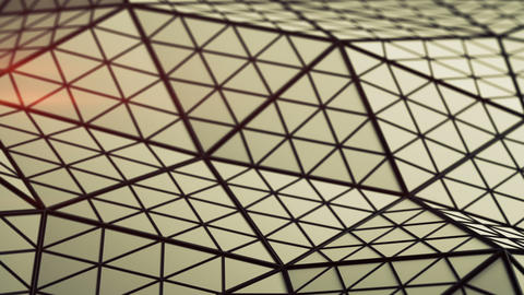 Low poly triangulated surface seamless loop 3D render animation Animation