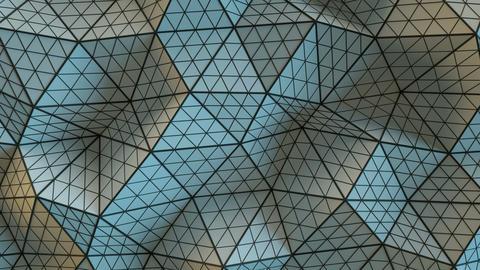 Polygonal geometric grey surface seamless loop Animation