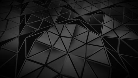 Low poly black construction with sharp edges 3D render seamless loop animation Animation