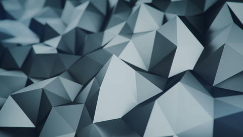 Low poly grey surface 3D rendering loopable background Animation