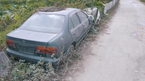 Apocalyptic Abandoned Car 06 Footage
