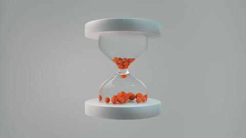 Simple trendy hourglass seamless loop 3D render animation 動畫