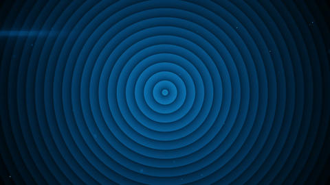 Concentric blue circles expanding seamless loop 3D render Animation