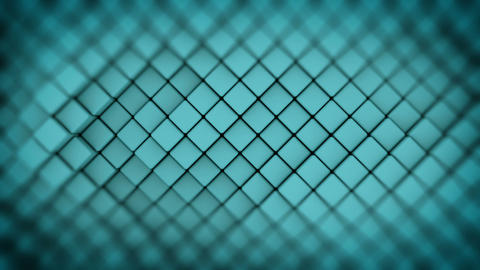 Wall of turquoise rhombus shapes abstract seamless loop 3D render animation Animation