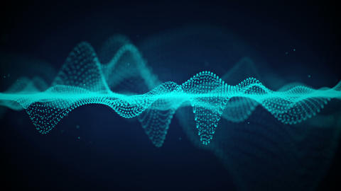 Futuristic blue cyber surface seamless loop animation with DOF Animation